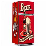 Adesivo para Envelopamento de Geladeira - Bebidas - Modelo 03 - A partir de R$ 72,90