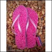 Chinelo Flopt Pink/Roxo kit 3 pares