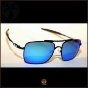 Óculos de Sol Oakley Deviation Preto Lentes Azul Ice Polarizadas 584dc9abbf