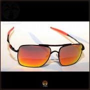 Óculos de Sol Oakley Deviation Preto Lentes Vermelhas Polarizadas acd9f66082