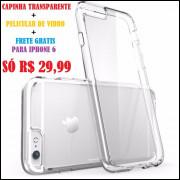 Case Capinha Tpu Celular Iphone 6s  + Pelicula Vidro FRETE GRATIS SÓ 29,99