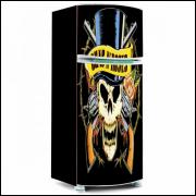 Adesivo para Envelopamento de Geladeira - Music - Modelo 01 - A partir de R$ 72,90