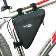Bolsa De Quadro De Bicicleta - Preta - Frete Grátis
