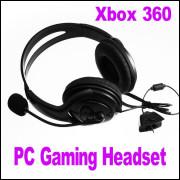 Headset Para Xbox 360 Stéreo Dual Fone - Preto