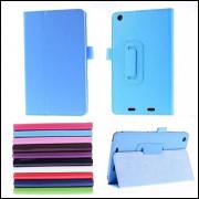 Capa Tablet Acer Iconia B1-730 Com Suporte Textura Litchi-Azul