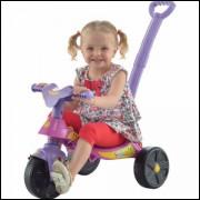 Triciclo Smile Rosa Com Empurrador Biemme