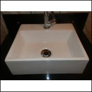 Cuba Sobrepor Para Banheiro Quadrada - Modelo Menor 34x29,5