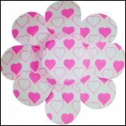 Forminhas Para Doces Flor em Papel Cartão Coração Rosa