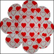 Forminhas Para Doces Flor em Papel Cartão Coração Vermelho