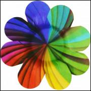 Forminhas Para Doces Flor em Papel Cartão Arco Íris