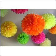 Balão Pompom papel seda 15 cm
