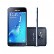 Smartphone Samsung Galaxy J3 2016 Preto, Quad Core 1.5 Ghz, Android 5.1, Tela de 5, 8GB