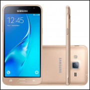 Smartphone Samsung Galaxy J3 2016 Dourado, Quad Core 1.5 Ghz, Android 5.1, Tela de 5, 8GB, 8 MP, 4G,