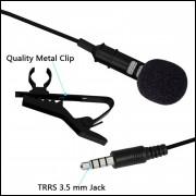Microfone De Lapela Omnidirecional Condensador Lavalier
