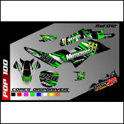 kit gráfico honda pop 100cc Monster energy completo, laminado