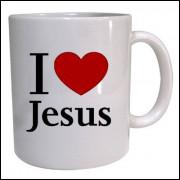 Caneca porcelana Amo Jesus