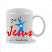 Caneca porcelana Sou de Jesus