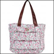 Bolsa Shopping Bag/Tote Capricho Liberty White C/Ziper Dmw