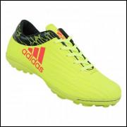 Chuteira Adidas X 16.1 Amarelo Limão e Preto Lançamento