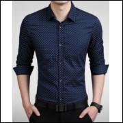 Camisa Casual Slim Fit Poá Premium