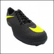 Chuteira Nike Hypervenom - Chuteira Society Nike Hypervenom Preta e Verde Limão. FRETE GRÁTIS!!!