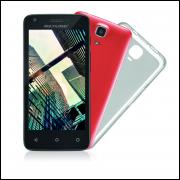 Smartphone Mini Tablet Multilaser MS45S, Quad Core, Android, Tela 4.5´, 8GB, 5MP, Desbloqueado