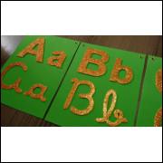 Alfabeto - 4 formas - glitter