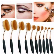 Kit 10 Pinceis Escova Maquiagem