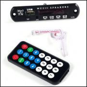 Decodificador De Mp3 Fm Sd Usb Com Controle
