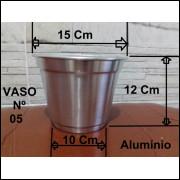 05 Vasos / Cachepô Nº05 Em Alumínio