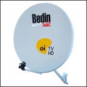 6 Antenas 60cm Banda Ku Oi Tv C C Lnbs Simplis 70 Mts Fios