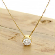 Ponto de Luz com Diamante de 20 Pontos, em Ouro Amarelo 18 k