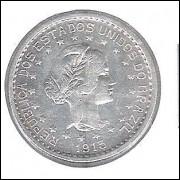 1913 - 500 Réis, prata, soberba, estrelas soltas, Brasil-República.