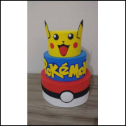 Bolo Cenográfico Pokemon - 3 Andares
