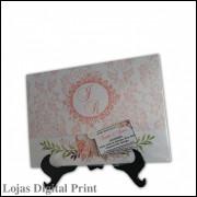 Convite de casamento Marsala Floral (25 Unidades)