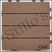 Deck De Pvc 30x30 Cor CAFÉ Piscinas, Sacadas, Jardins Faça Vc Mesmo