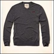 Camisa Hollister V - Neck Ícone Sweater Fino - P. Entrega