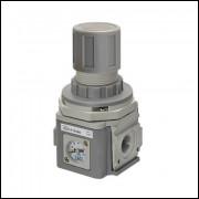 Mini regulador de pressão com manômetro 1/4-