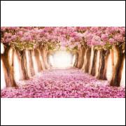 Painel Sublimado em Tecido Para Decoração De Festas Ipê Rosa 1,5 X 2,5