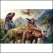 Painel Sublimação Jurassic Park / Dinossauros 2,0 Alt X 3,0 Larg