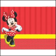 Painel Sublimado Tecido Minnie 1,5 Alt X 2,5 Larg Sem Emenda