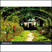 Painel Sublimação Jardim de Monet 2,0 Alt X 3,0 Larg Sem Emenda