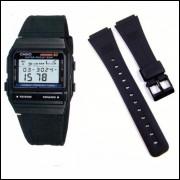 9b4b59ddaec Pulseira Casio Db-53 Db-55 Data Bank - Frete 8 Reais