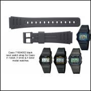 97864e720f2 Pulseira Relógio Casio F91w Boracha Silicone 1° Linha