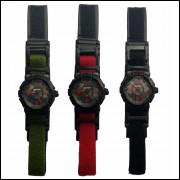c0d5e26c23f Pulseira Velcroo Relógios Várias Cores Protetor De Borracha