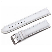 Pulseira de Couro Branco para Relogio Universal 24mm