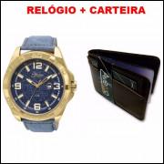 dc85f9506e6 Relógio Feminino Backer Condor Jeans + Brinde - Frete Gratis