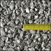 Cascalho metálico prata