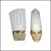 Chapeu Para Chef De Cozinha Tnt Com Pregas kit 03 unidades frete grátis