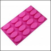 Molde De Silicone Mono Porção 16 Cavidades 29.5x17x6.2 Cm